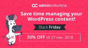 Admin Columns Pro WordPress Black Friday Deal