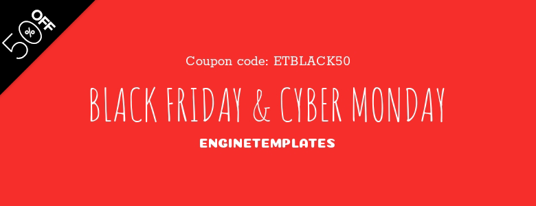 enginetemplates joomla black friday deal