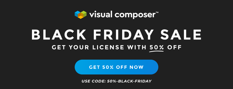Visual Composer WordPress Black Friday Deal