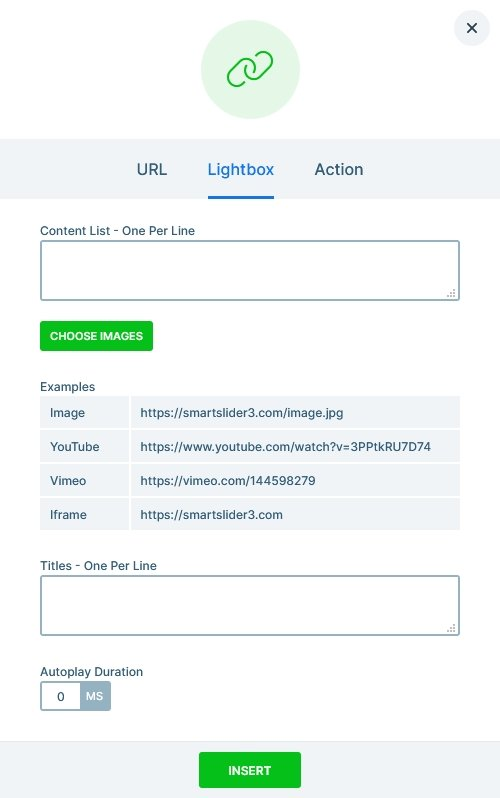 Lighbox options at the Link