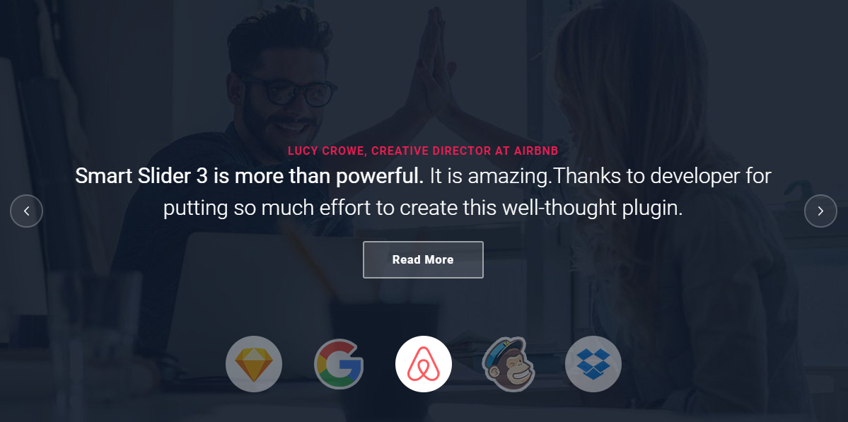 Showcase what other companies have to say about you in a modern way