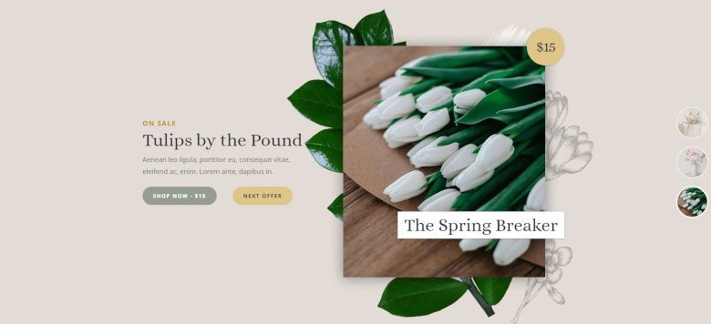 Flower Shop Smart Slider 3 template