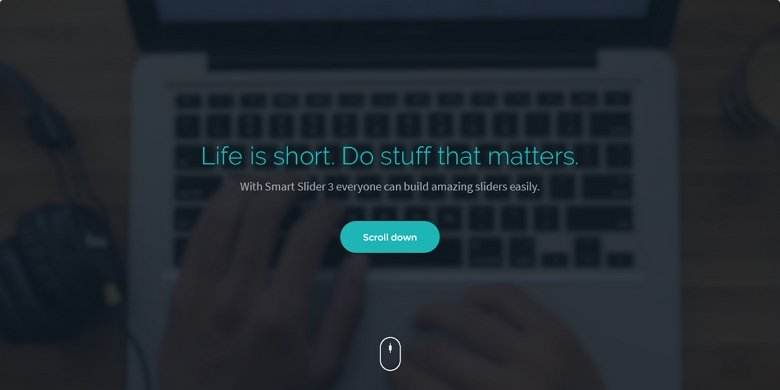 Great header video slider with a CTA button