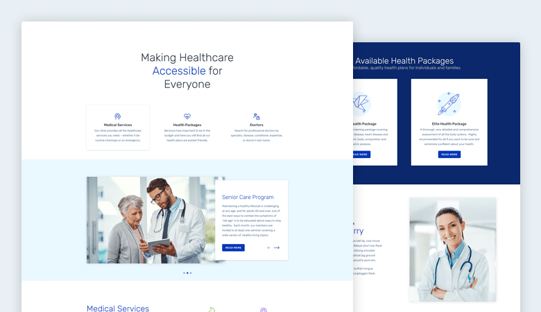 healthcare slider template