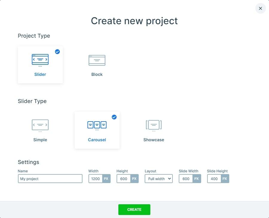 Create a carousel in Smart Slider 3