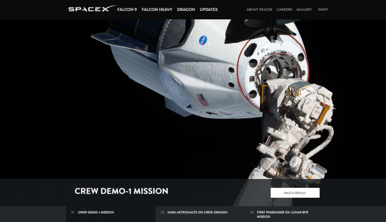 SpaceX Homepage