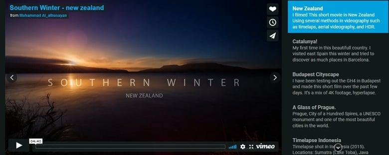 Vimeo slider with fade animation