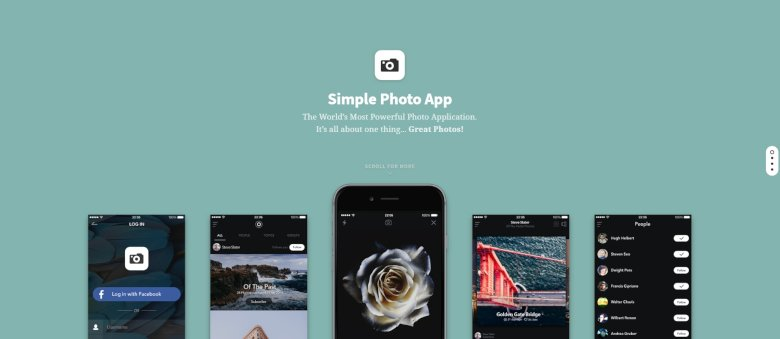Photo App Slider with Layer Animations
