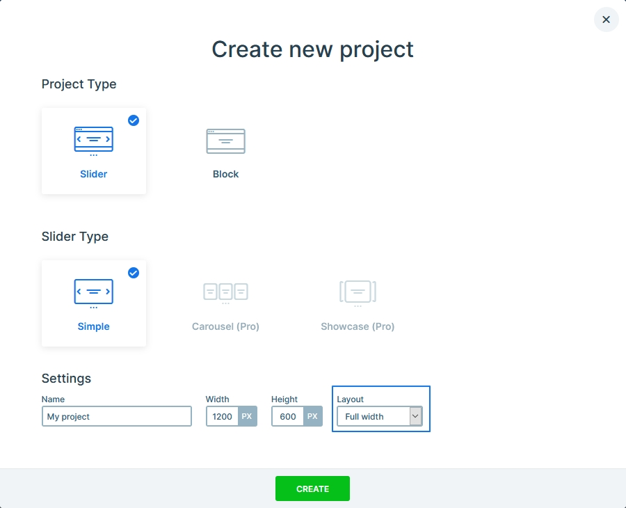 Create a project view