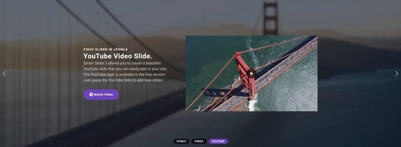 Full width video slider