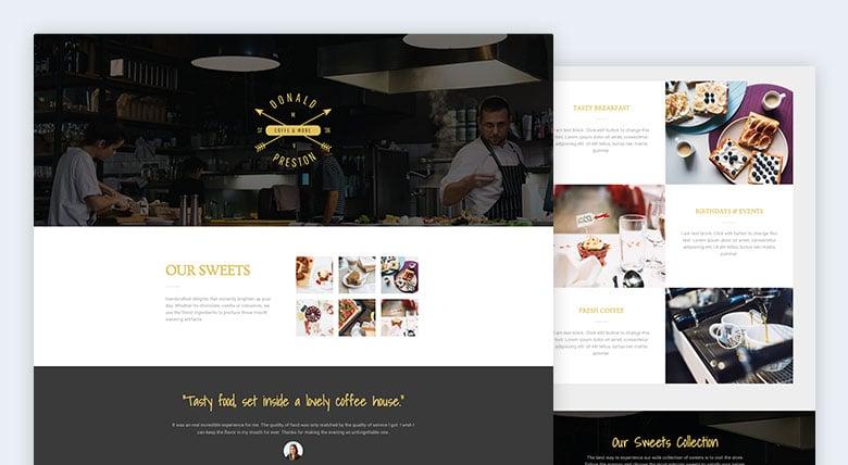 elementor restaurant