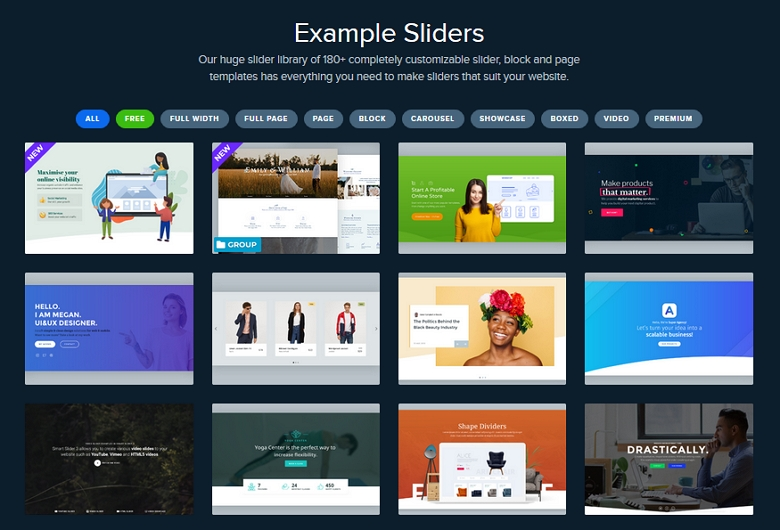Showcase examples