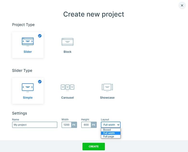 Creating a full width slider