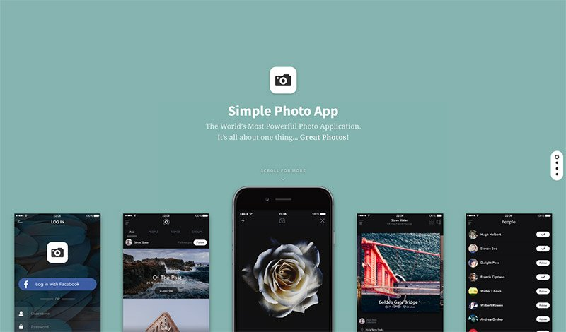 Product Showcase Landing Page