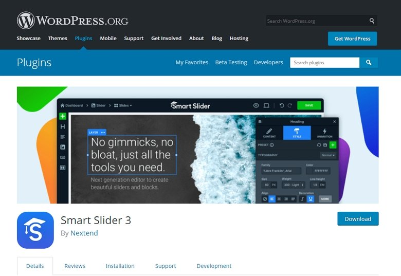 Smart Slider 3 on WordPress