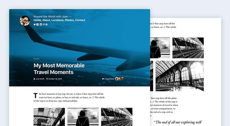 Twenty Nineteen WordPress theme preview