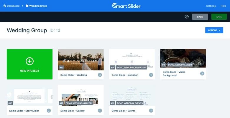 slider groups