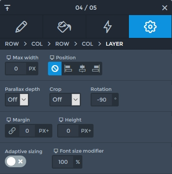 Rotate option at Smart Slider 3's layer window