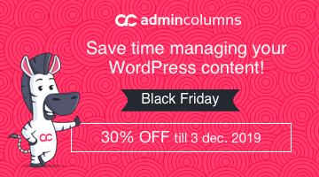 wordpress black friday admin columns pro