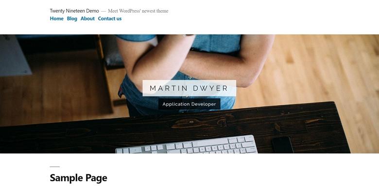 Twenty Nineteen slider on the homepage using Smart Slider 3