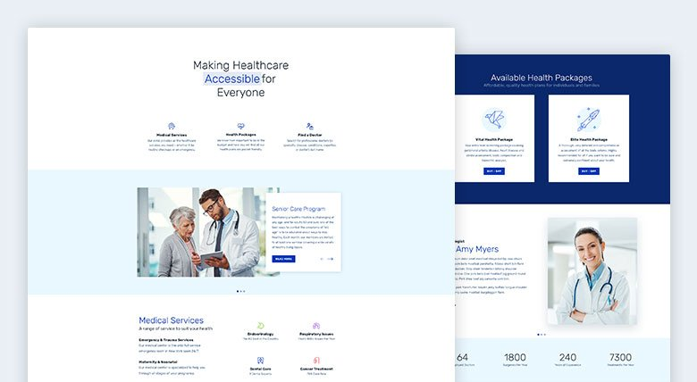 Healthcare Single Page Design