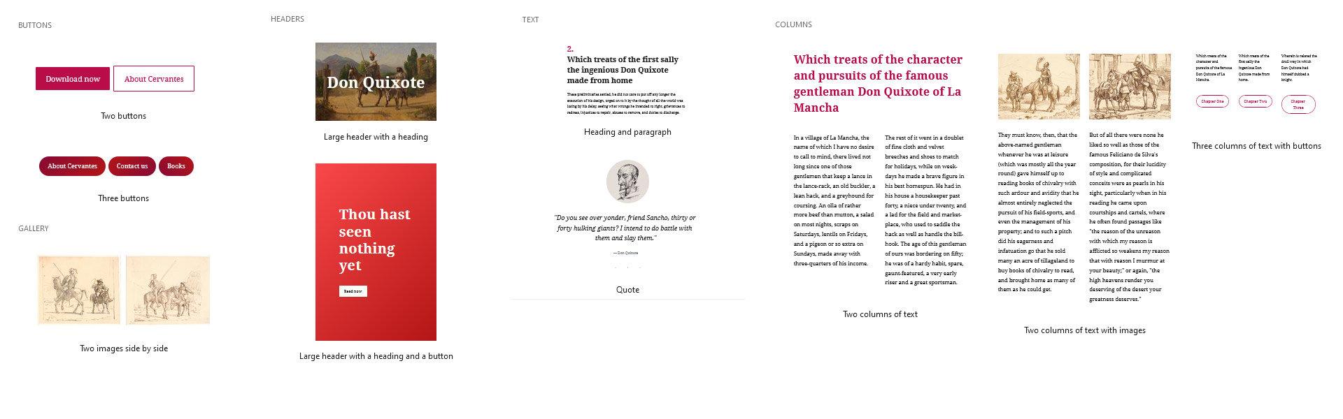 Gutenberg block templates
