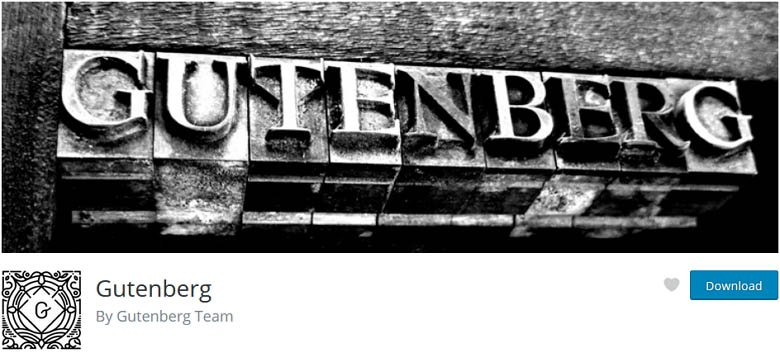 Gutenberg - one of the best Free WordPress page builder plugins