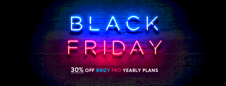 brizy black friday deal