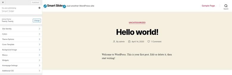 WordPress design options