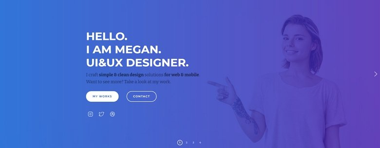 Elementor Slider template: Layer sldier