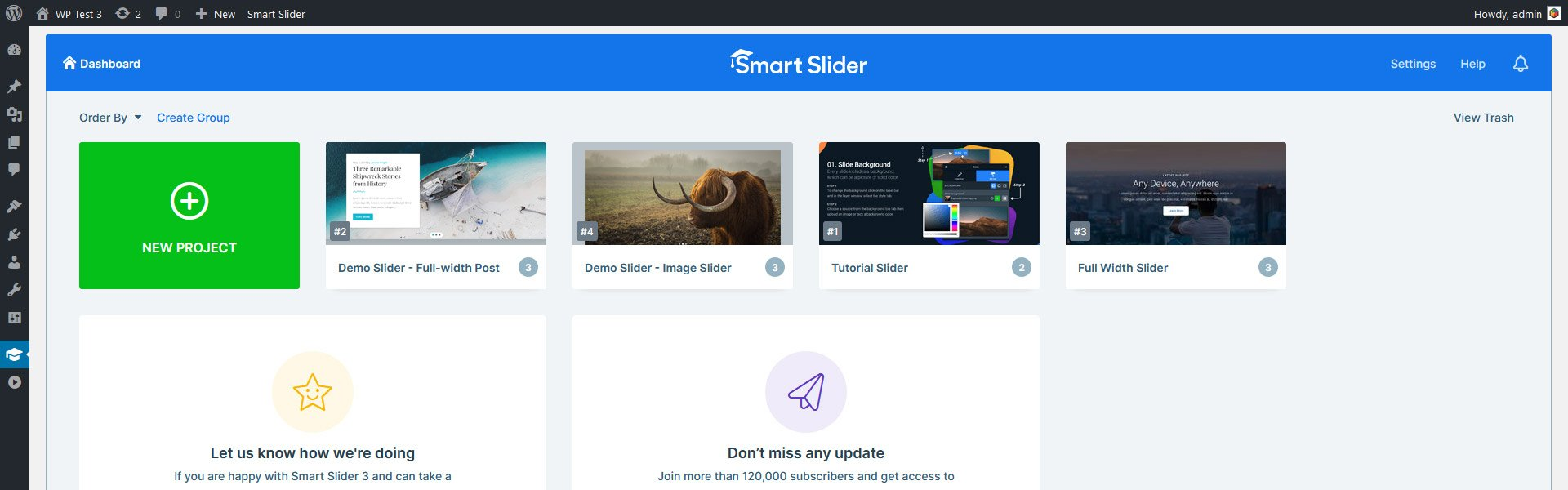 Interface of Smart Slider 3, the best WordPress slider plugin