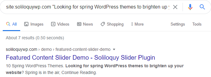 Google can read content from Soliloquy