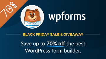 wpforms black friday deal