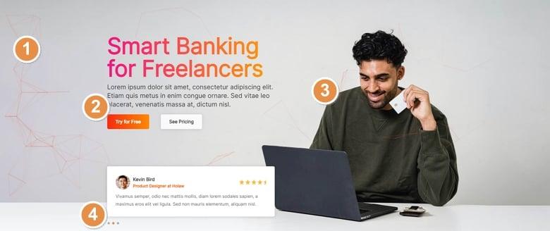 Best features of Smart Bank slider