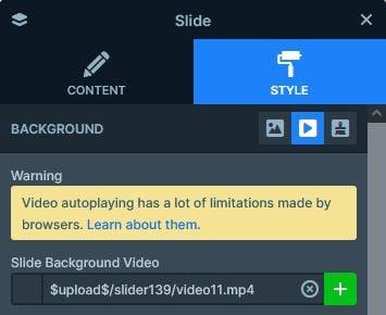Slide background video