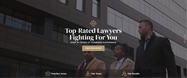 Lawyer slider template