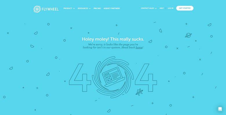 WordPress 404 page by Flywheel