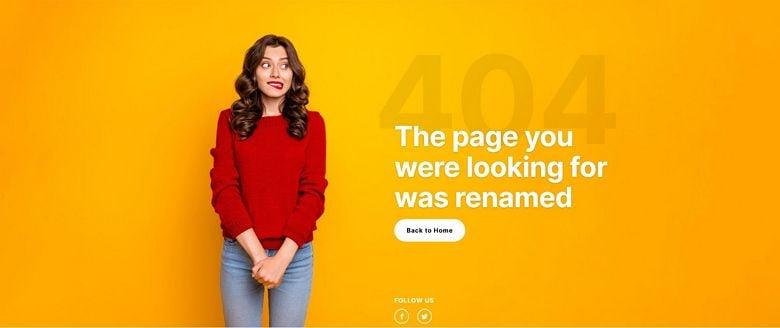 WordPress 404 page template - Image