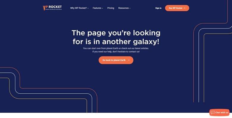 WP Rocket's 404 error page