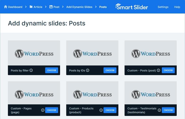 Smart Slider feature: Custom post generators