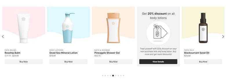 Full Width Product Carousel - WordPress Carousel Examples