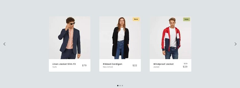 Product Carousel example