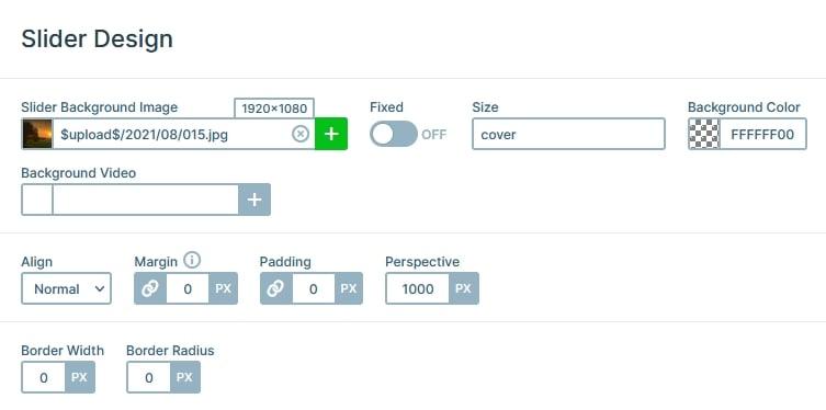 Smart Slider feature: Slider Background